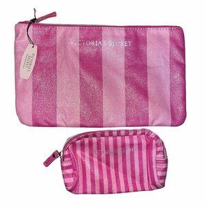 NWT Victoria's Secret 2 Piece Makeup Bag Set